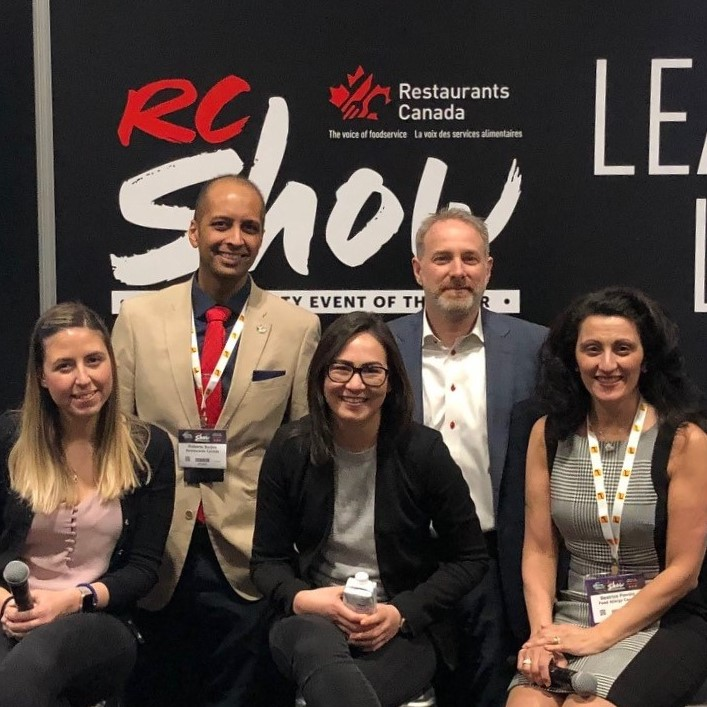 Beatrice on a panel discussion with Restaurants Canada.